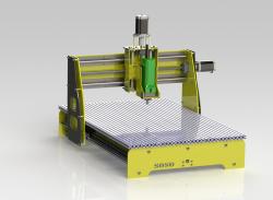 طراحی دستگاه CNC سه محوره