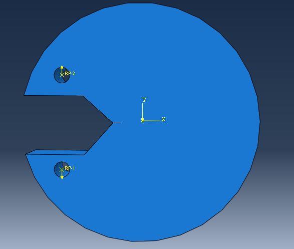 بررسی تحلیل ترک آباکوس برای رسیدن به ضریب شدت تنش K1