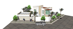 پروژه آماده سه بعدی خانه ویلایی در اسکچاپSKETCHUP