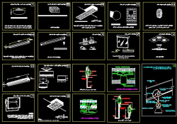 دانلود نقشه اتوکد جزییات نصب و اجرای تمام چراغ های سقفی و دیواری برای ساختمان و محوطه و ...
